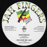 Norrisman - Rastaman / Mikey General - Deliver Me Jah / Buccaneer - Dem A Hypocrite / Psalm Of David version (Jah Fingers) UK 12""